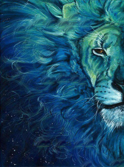 Analogous Color Scheme Lion Painting Art Lion Art