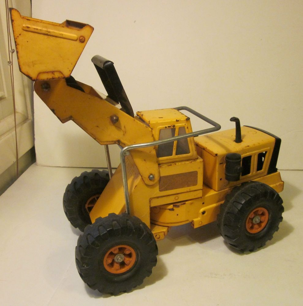 Mighty tonka truck front end loader metal 54320 vintage tonka