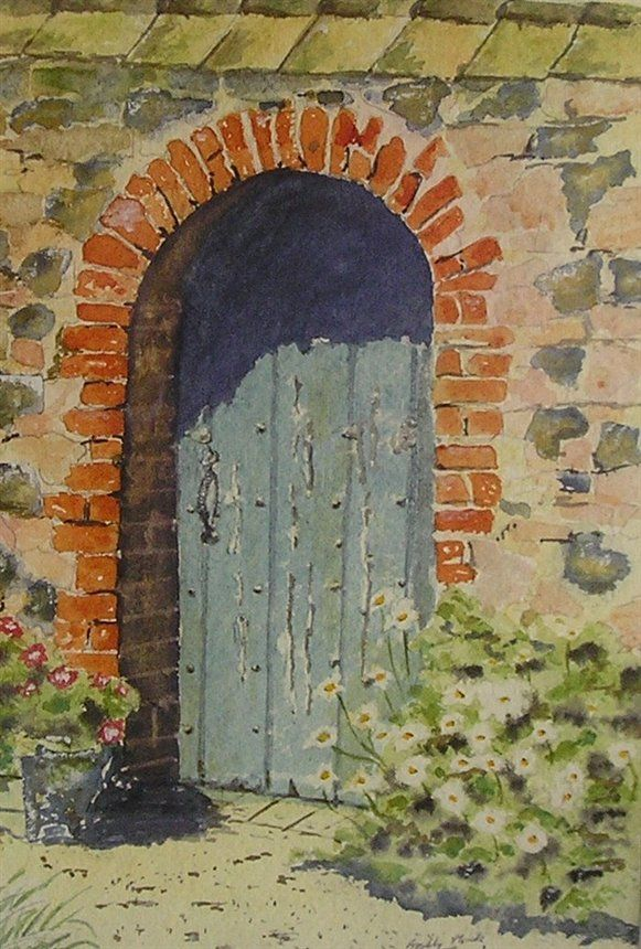 Secret garden mural Garden mural Doors and Paintings