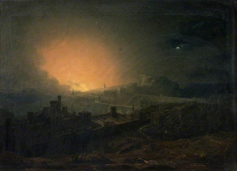 The Fire, Edinburgh,  John Martin