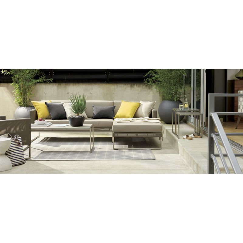 Dune Taupe 3-Piece Right Arm Chaise Sectional Sofa with