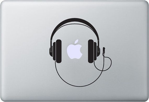 Dj headphones macbook decal stickers decals custom by styleawall 8 99