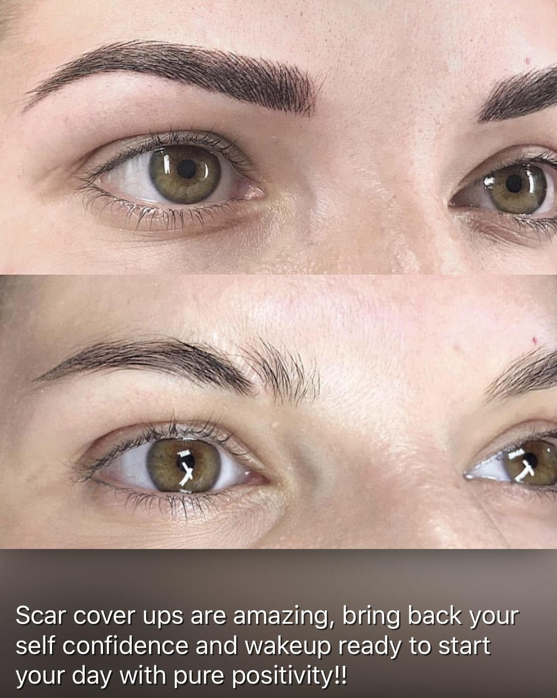 Scar coverup Microblading eyebrows