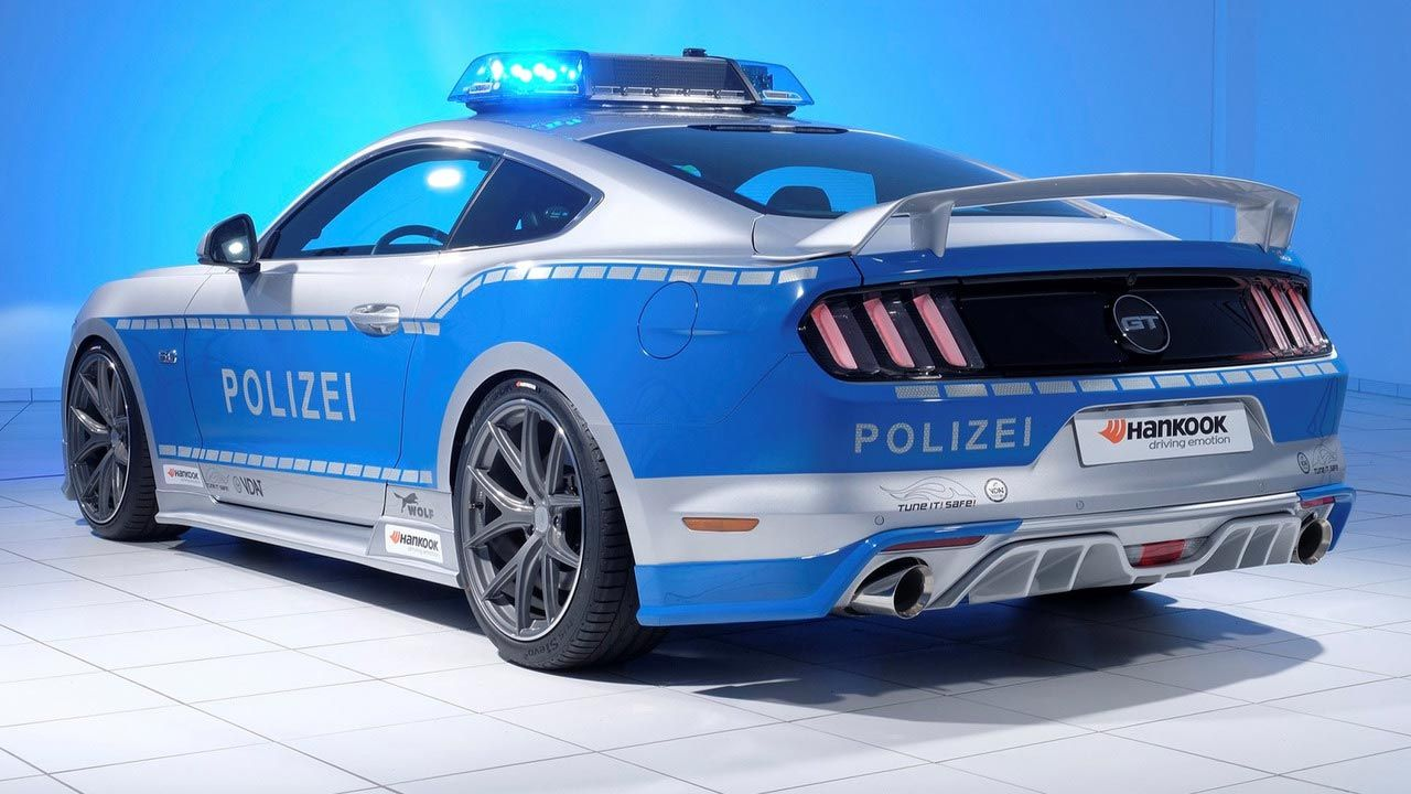 German Police Flaunts Modified Ford Mustang Gt As Face Of Tune It