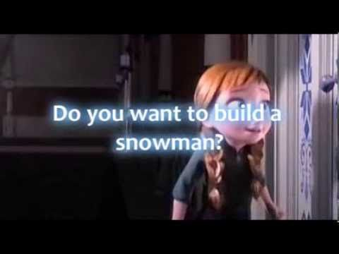 Frozen do you want to build a snowman lyrics video