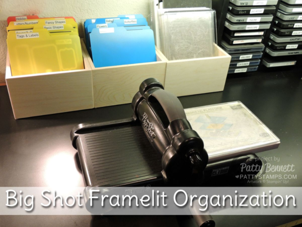 Organize Your Stampin UP Big Shot Framelits And Thinlits With Boxes Magnet Sheets