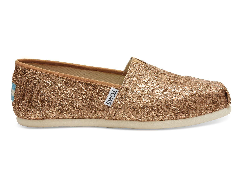 ROSE GOLD LACE GLITZ WOMEN'S CLASSICS. Make a statement in this Alpargata.  The slip · Dressy ShoesFormal ...