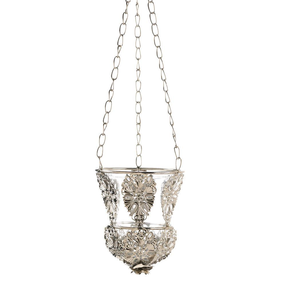 Embellished hanging silver candle cup products pinterest products