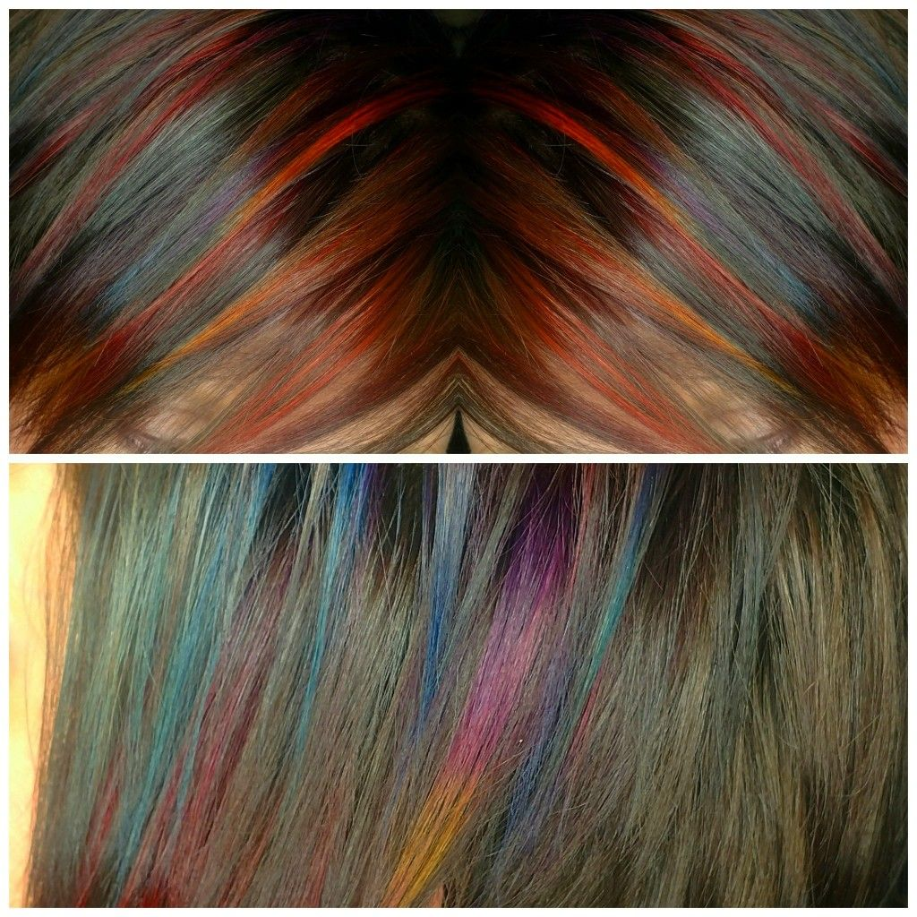 Oil slick hair color (With images) Oil slick hair, Slick