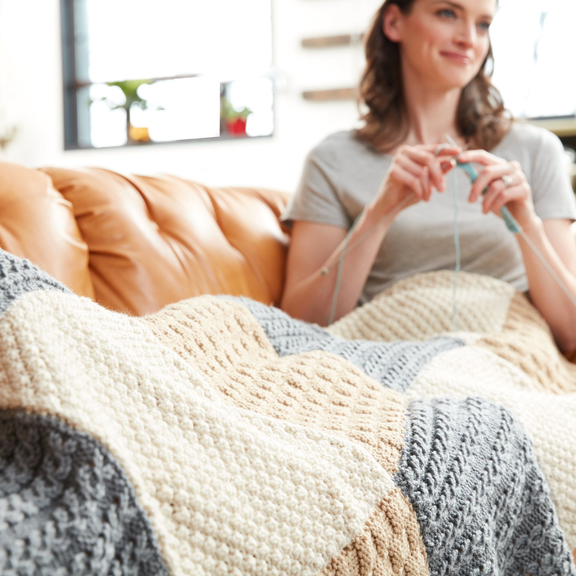 Free Knit Sampler Afghan Pattern | An easy afghan with plenty of ...