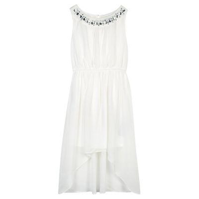 Star by Julien Macdonald Designer girl's cream jewel neck dress- at Debenhams.ie