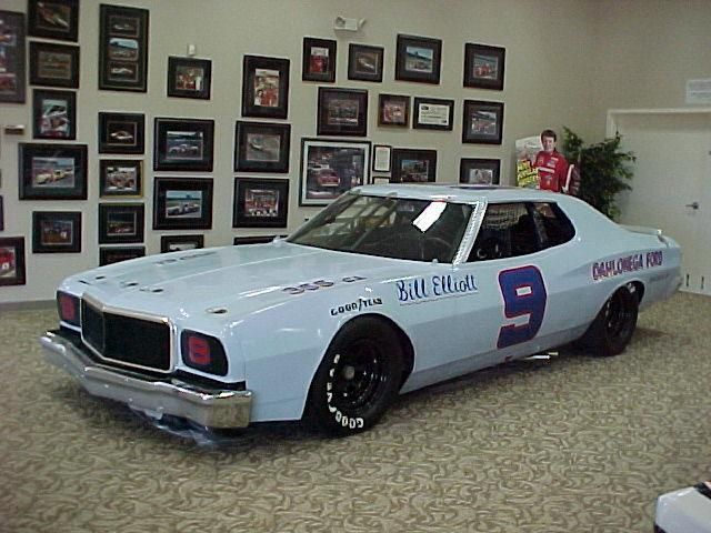 Bill Elliott Ford Gran Torino With Images Nascar Race Cars Nascar Cars Ford Classic Cars