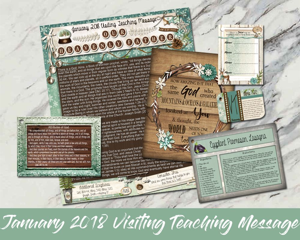 January 2018 Visiting Teaching Message Digital Download: With the