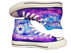 ae65c63281c1 Galaxy Custom Converse  Converse Sneakers  Hand-Painted On Converse Shoes  canvas  shoes sneakers For men women kids