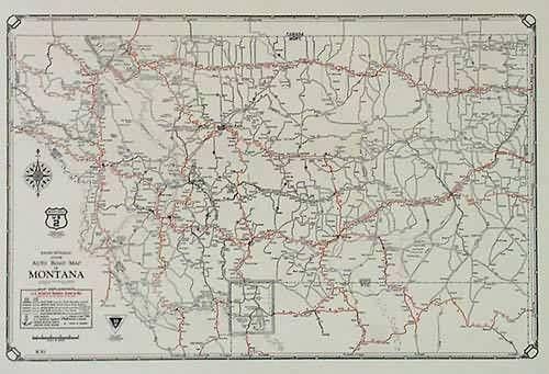 Printable Montana Road Map | Rand McNally Junior Auto Road ...
