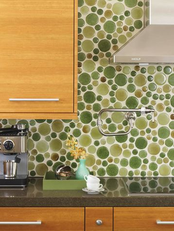 Recycled Gl Circle Tiles From Bedrockindustries A Seattle Company Tile Backsplash