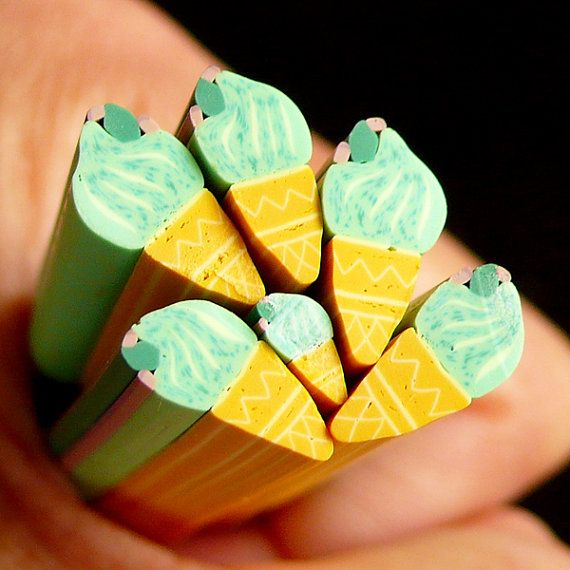 Ice Cream Polymer Clay Cane Miniature Sweets Fimo Cane (LARGE/BIG ...