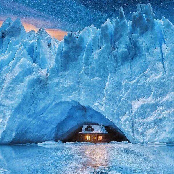 Arctic glacial ocean basin