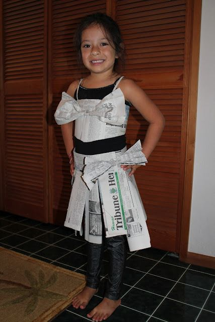 Recycled Dress Up - Newspaper skirt & top