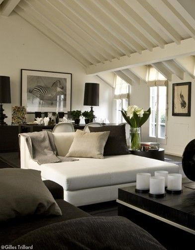 The Diversion Project Black White And Chic Chaise Lounge