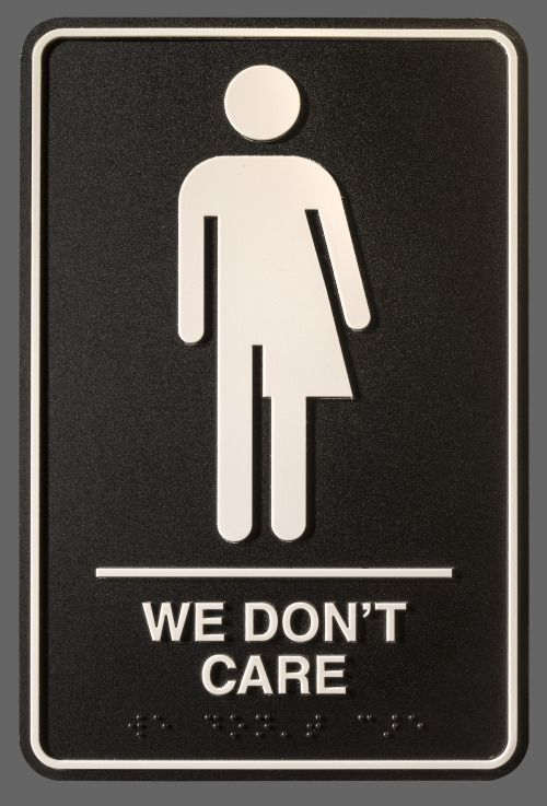 Artist Hopes To Flush Binaries With GenderNeutral Bathroom Sign - Gender neutral bathroom signs california
