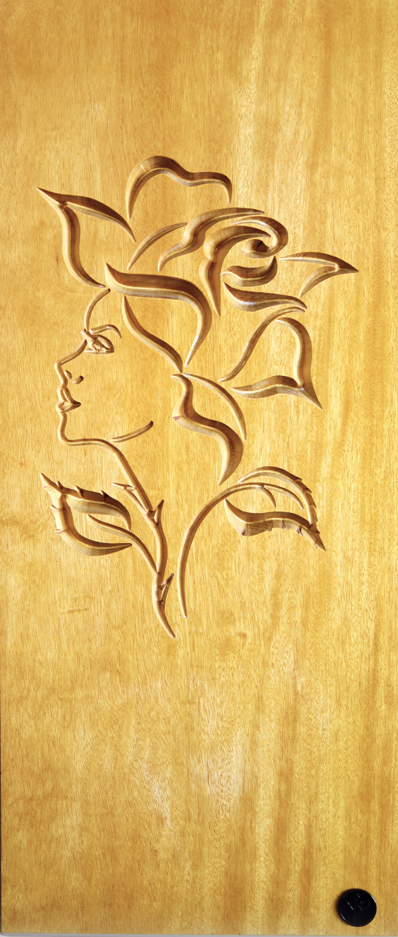 Essence of a woman Wood burning patterns Wood carving