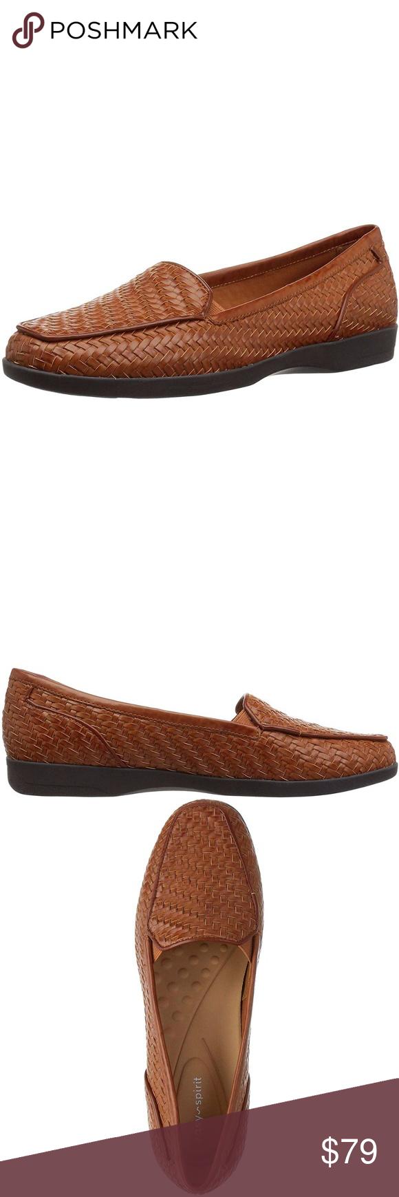 Easy Spirit Devitt Woven Loafers Brown