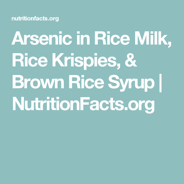Rice Milk Nutrition Facts