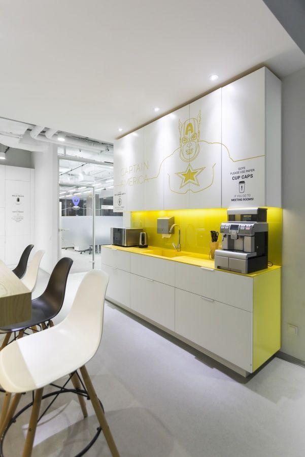 Pinhazal Sancaklı On Dekoreyşın  Pinterest  Tea Station New Small Office Kitchen Design Ideas Design Decoration