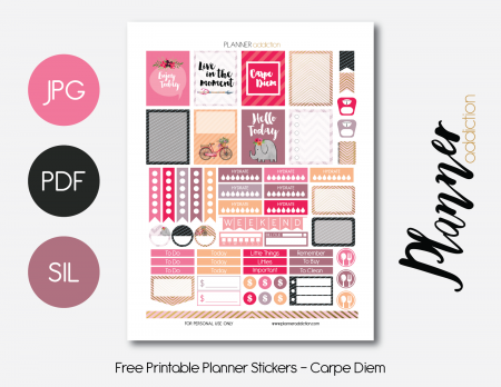 Free Printable Planner Stickers - Carpe Diem