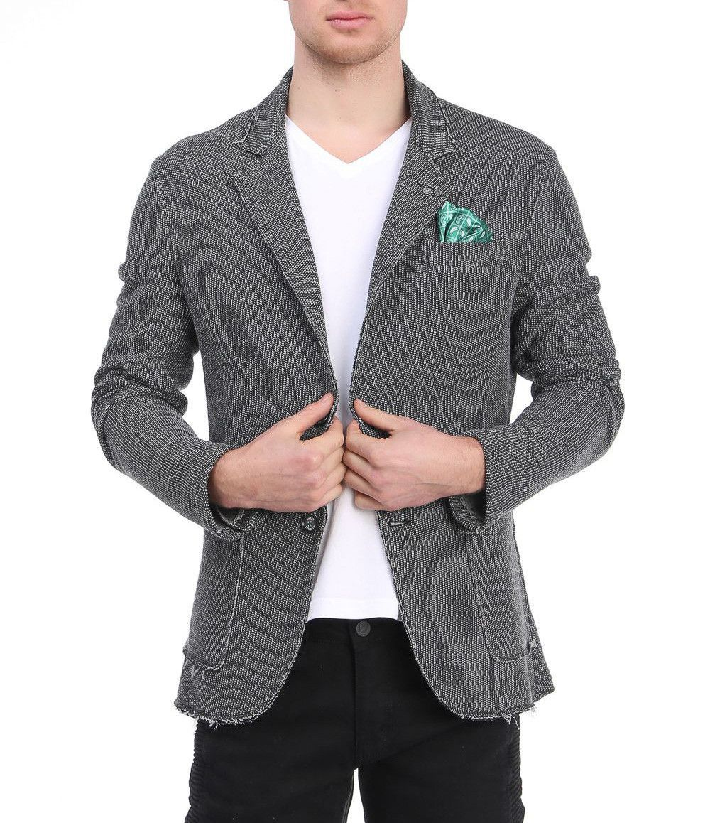 Unfinished Fitted Casual Jacket