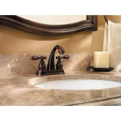 Pfister Unison 4 in. Centerset 2-Handle High Arc Bathroom Faucet in ...