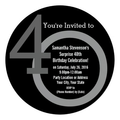 Cirle round numbers 40th birthday party invitation 525 square cirle round numbers 40th birthday party invitation filmwisefo Choice Image