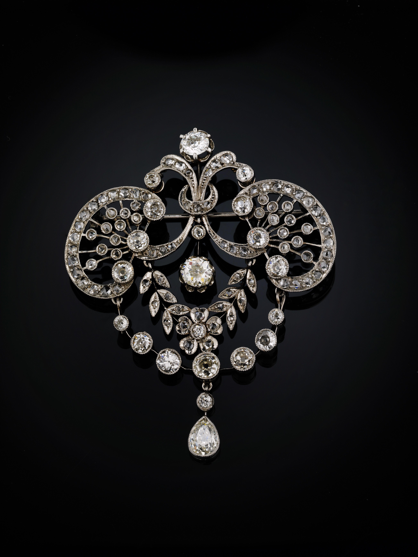 Brochpendant Platina Diamonds French Hallmarks Adornments
