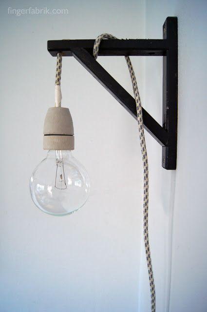 fingerfabrik diy cable lamp tutorial kabel lampe selber bauen studentenzimmer lampen. Black Bedroom Furniture Sets. Home Design Ideas