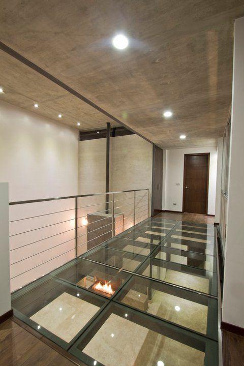 Piso cristal casa pinterest pisos cristales y suelos - Suelos de vidrio ...