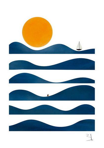 Tropical Paradise Sea Landscape Surf Giant CANVAS ART PRINT A0 A1 A2 A3 A4
