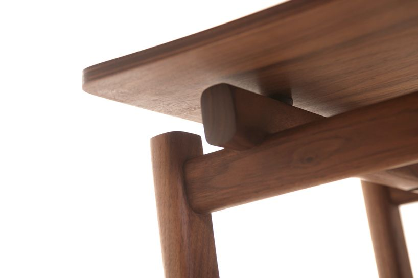 shaker movement informs neri&hu's chair + dining table for de la espada