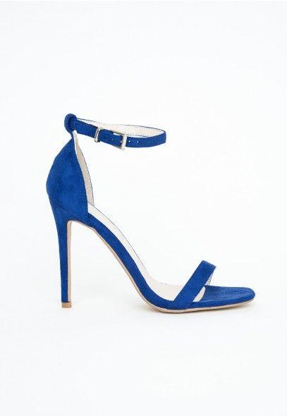 Blue Strappy Sandals Heel