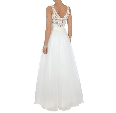 Luxuar Brautkleid Mit Floralen Applikationen Und Tull Ecru Peek Cloppenburg Online Brautkleid Kleider Kleid Hochzeit