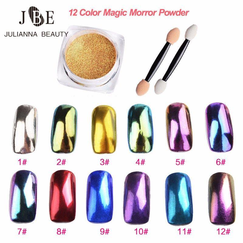 2g DIY Shinning Chrome Magic Mirror Powder Metal Nail Art Tips ...