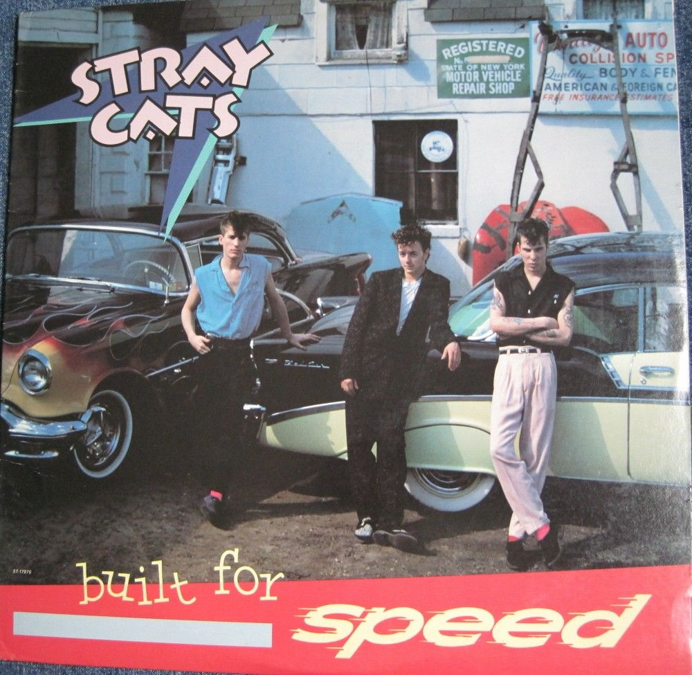 THE STRAY CATS Built For Speed lp 1981 Rockabilly Rare