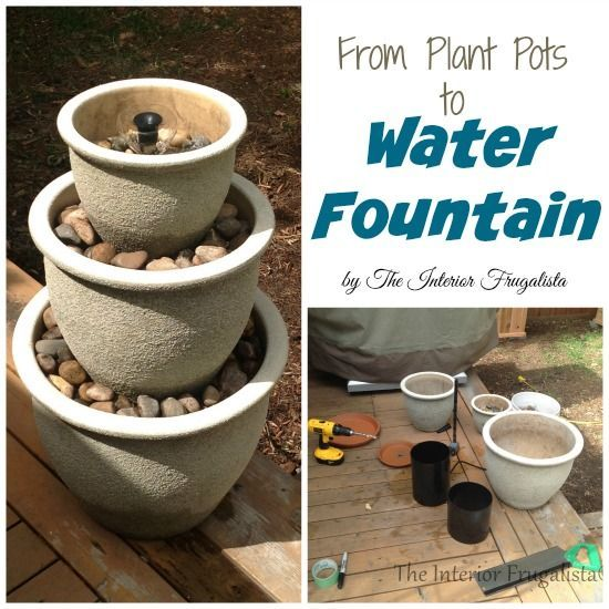 How To Turn Plant Pots Into A Water Fountain. Diy Water FountainHomemade Water  FountainsDiy Garden FountainsPatio ...