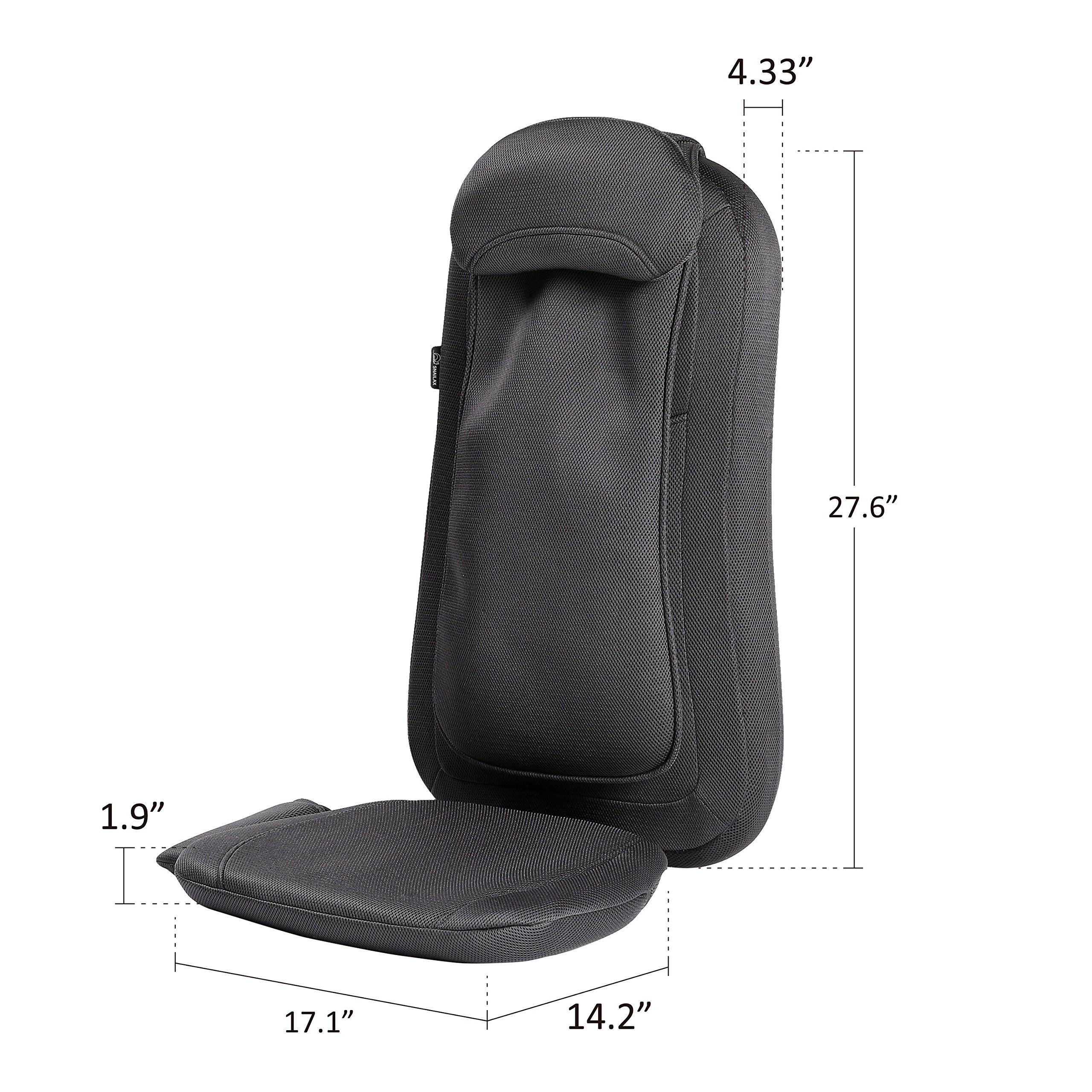 Snailax Shiatsu Massage Seat Cushion With Heat And 4 Rolling Nodes
