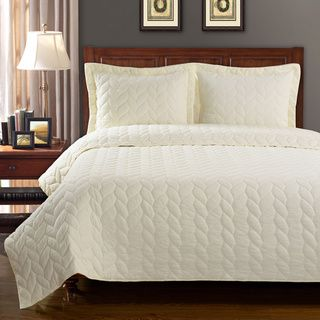 bedroom with http://www.overstock.com/Bedding-Bath/Ashley-Braided-Cotton-3-piece-Quilt-Set/8771391/product.html?CID=214117 $67.49