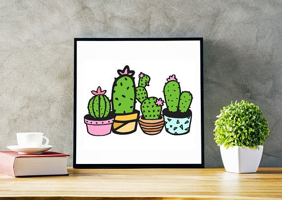 Bright, Whimsical And Bold, This Cactus Print Would Make A Perfect Motheru0027s  Day Gift, Birthday Gift Or Housewarming Gift. Featuring A Group Of  Succulents, ...