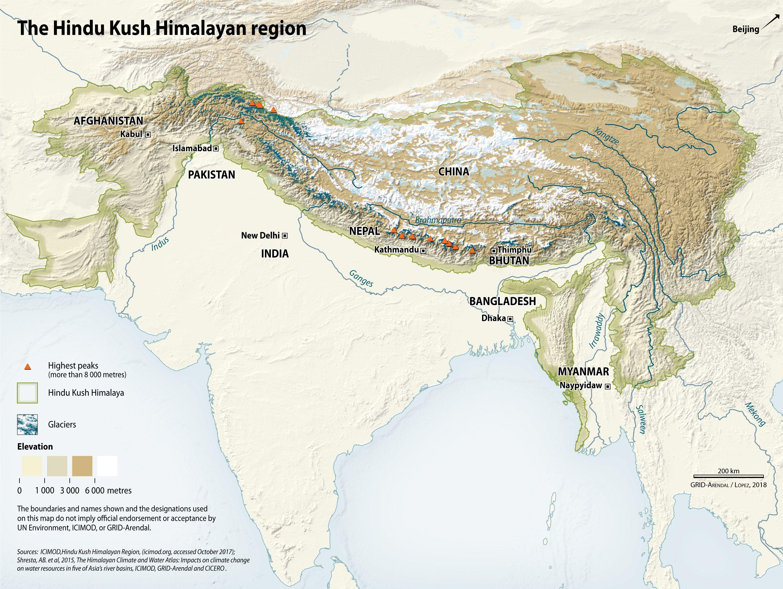 Hindu Kush Mountains On World Map Hindu kush mountains map from farm5 5 #indiamap #india #mountains