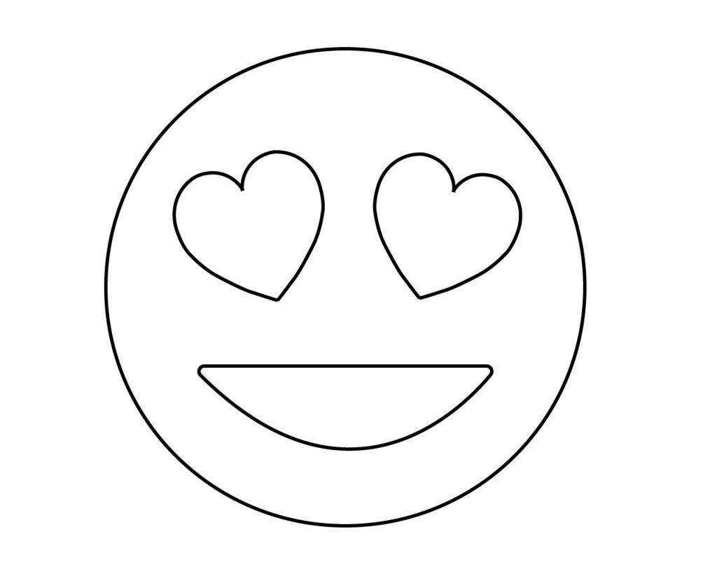 Free Printable Emoji Coloring Pages For Kids Heart And Eye Cool