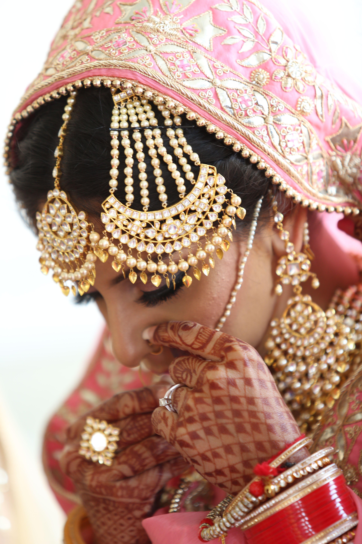 Kundan Gold Customized Bridal Set With Huge Paasa Earrings Tikka