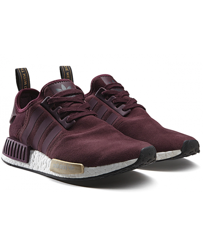 Adidas NMD Suede Wine Burgundy Full of fantasy colors and beautiful colors  of the latest models
